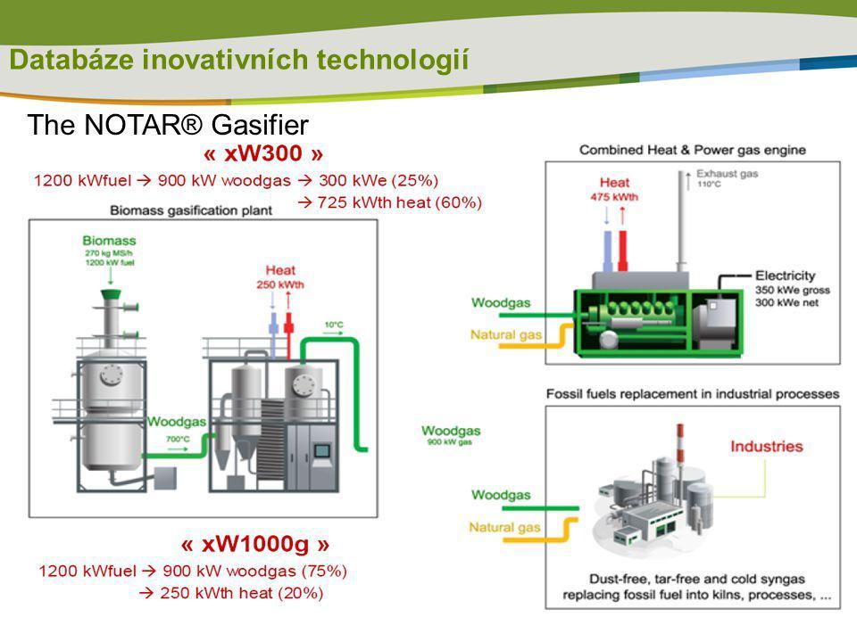 Databáze inovativních technologií The NOTAR® Gasifier