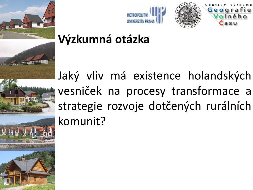 Výzkumná otázka Jaký vliv má existence holandských vesniček na procesy transformace a strategie rozvoje dotčených rurálních komunit?