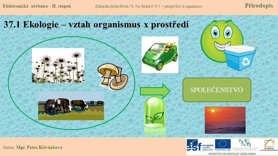 37.1 Ekologie – vztah organismus x prostředí Elektronická učebnice - II.