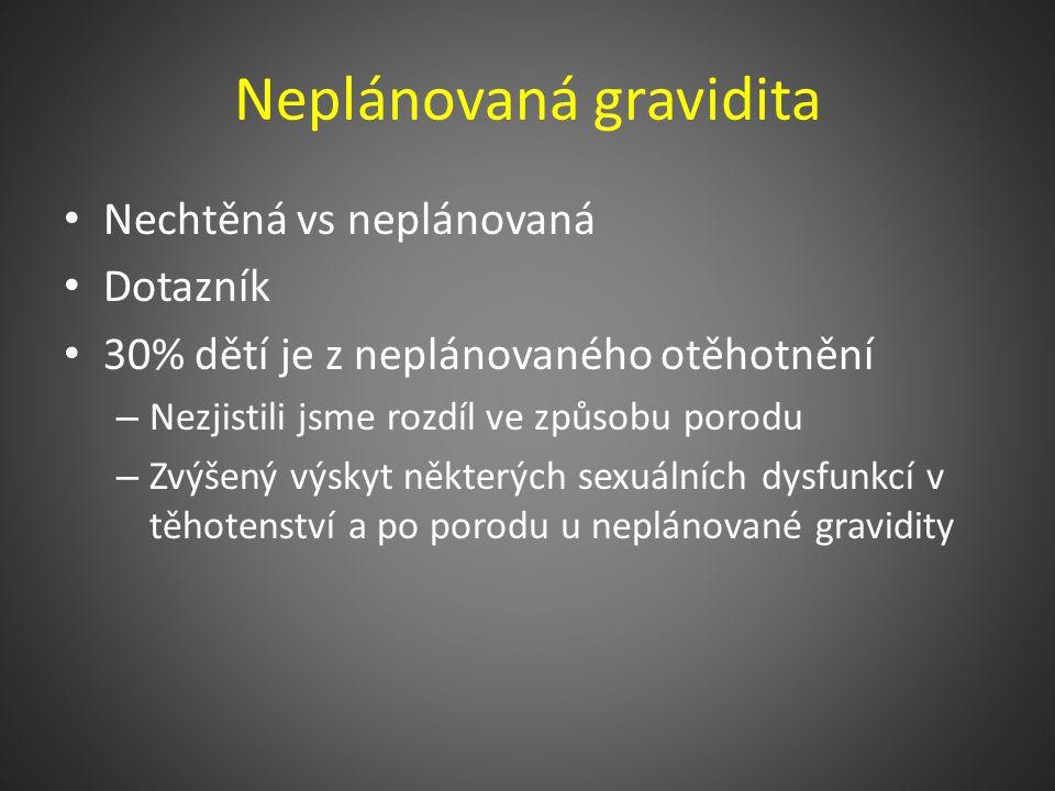 Neplodnost (N97) Neplodný pár WHO – 2 roky nechráněného pravidelného pohlavního života ČR – 1 rok nechráněného pravidelného pohlavního života Nárůst .