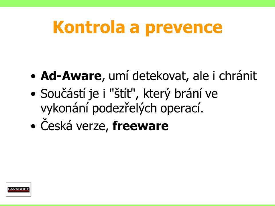 Ad-Aware, umí detekovat, ale i chránit Součástí je i