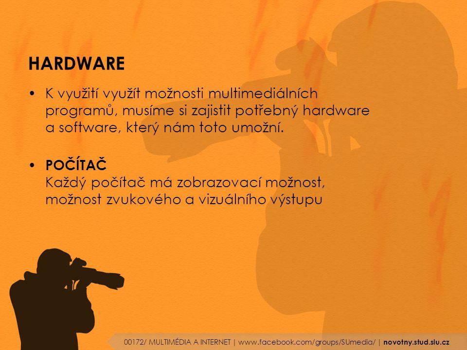 HARDWARE K využití využít možnosti multimediálních programů, musíme si zajistit potřebný hardware a software, který nám toto umožní. POČÍTAČ Každý poč