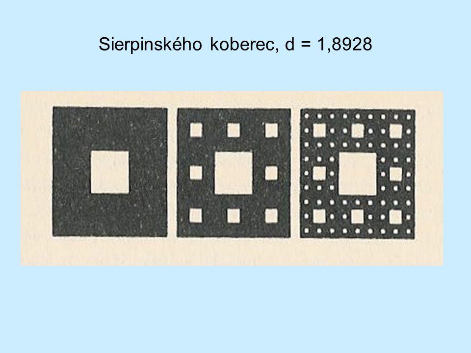 Sierpinského koberec, d = 1,8928