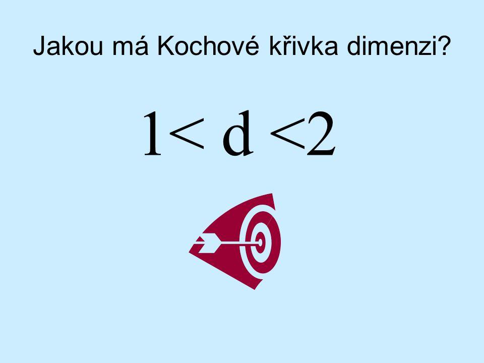 Jakou má Kochové křivka dimenzi? 1< d <2