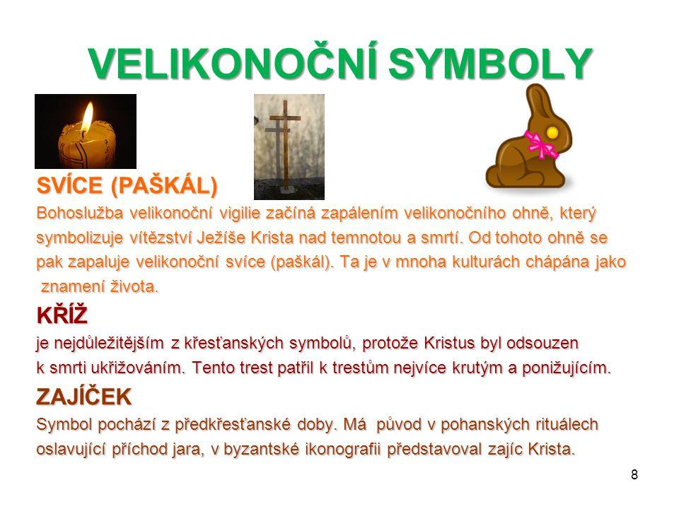VELIKONOČNÍ SYMBOLY BERÁNEK představoval v židovské tradici Izrael jako Boží stádo, které vede Hospodin. Zároveň Židé na Velikonoce pojídali beránka j