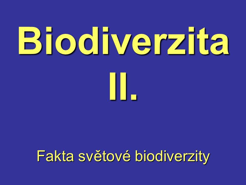 Biodiverzita II. Fakta světové biodiverzity
