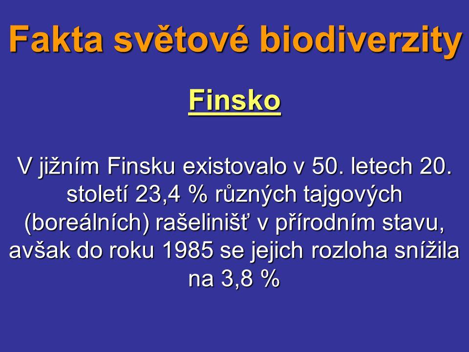 Finsko V jižním Finsku existovalo v 50. letech 20. století 23,4 % různých tajgových (boreálních) rašelinišť v přírodním stavu, avšak do roku 1985 se j