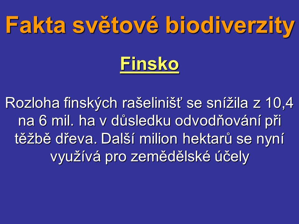 Finsko Rozloha finských rašelinišť se snížila z 10,4 na 6 mil. ha v důsledku odvodňování při těžbě dřeva. Další milion hektarů se nyní využívá pro zem
