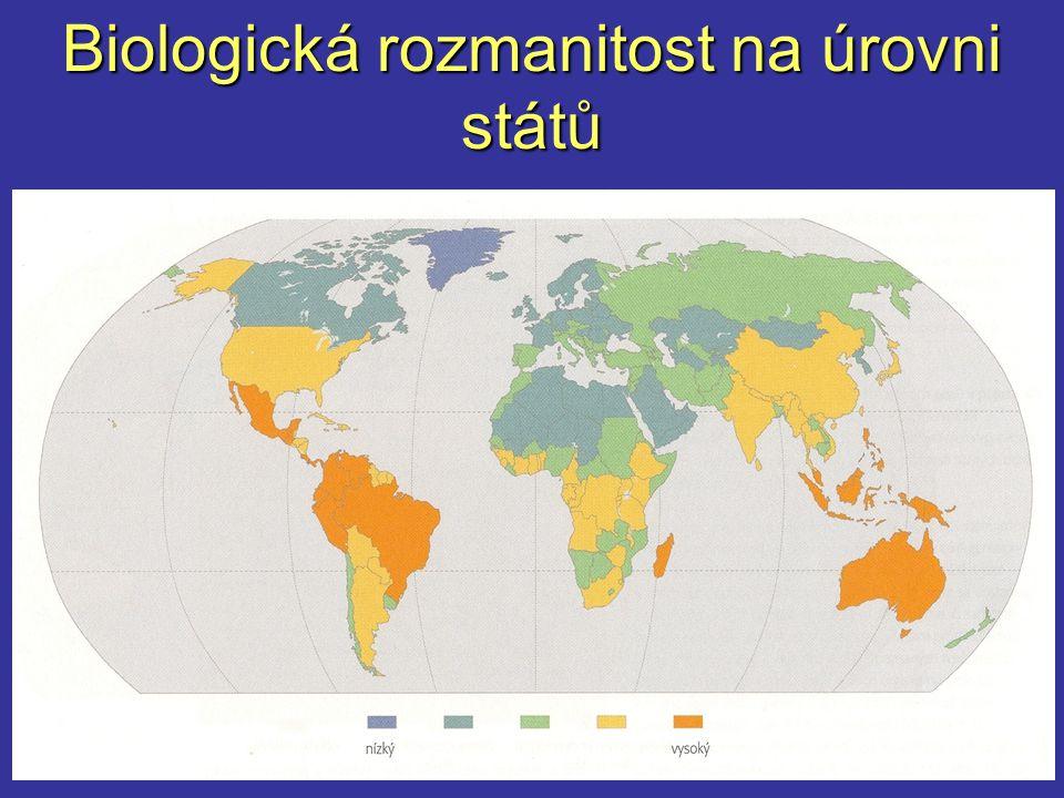 Biologická rozmanitost na úrovni států
