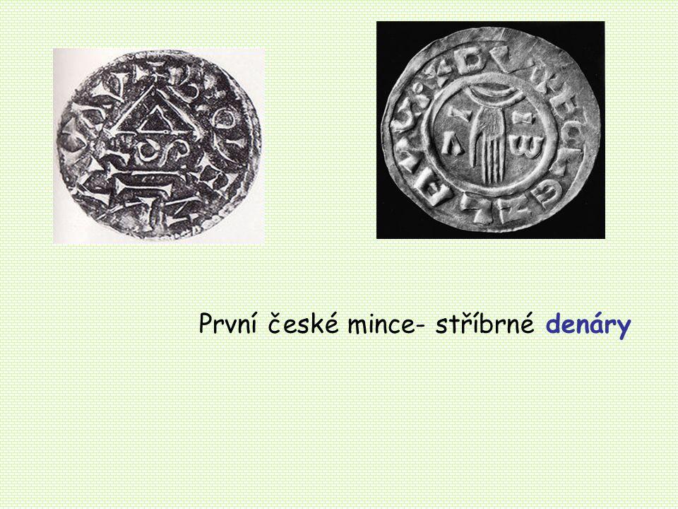 První české mince- stříbrné denáry