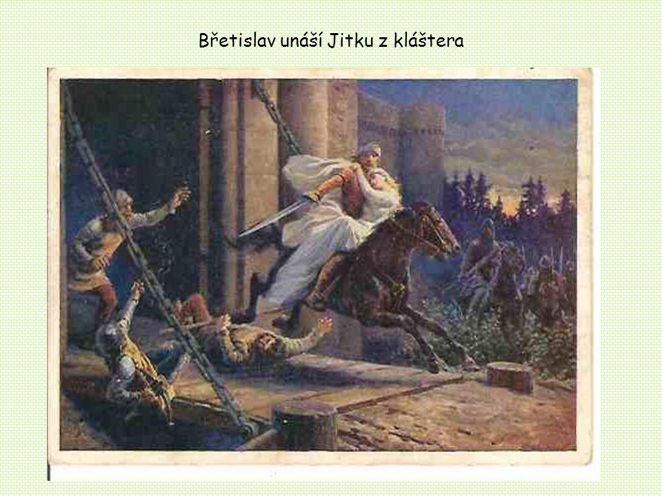 Břetislav unáší Jitku z kláštera