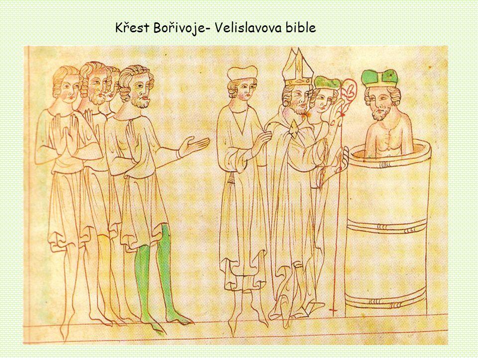 Křest Bořivoje- Velislavova bible