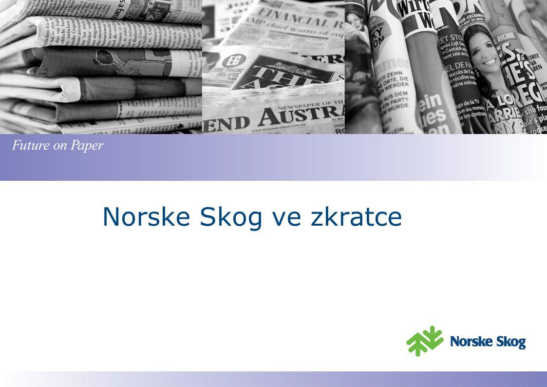Norske Skog – Globální koncern Norske Skog má sídlo v Oslo, Norsko Je jedním z největších světových výrobců dřevitých publikačních papírů (novinové a magazínové papíry) Má ve světě celkem 14 závodů Celkový obrat v roce 2010 představoval 2,4 Mrd.