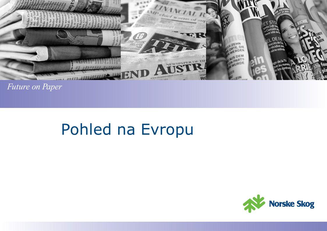 Poptávka v Evropě v roce 2010 rostla ve srovnání s rokem 2009 Zdroj : Cepiprint Celkem roční dodávky v tunách Srovnání 2010 vs 2009 % Evropa Západní EuropaVýchodní E.
