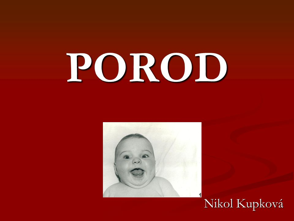 POROD Nikol Kupková