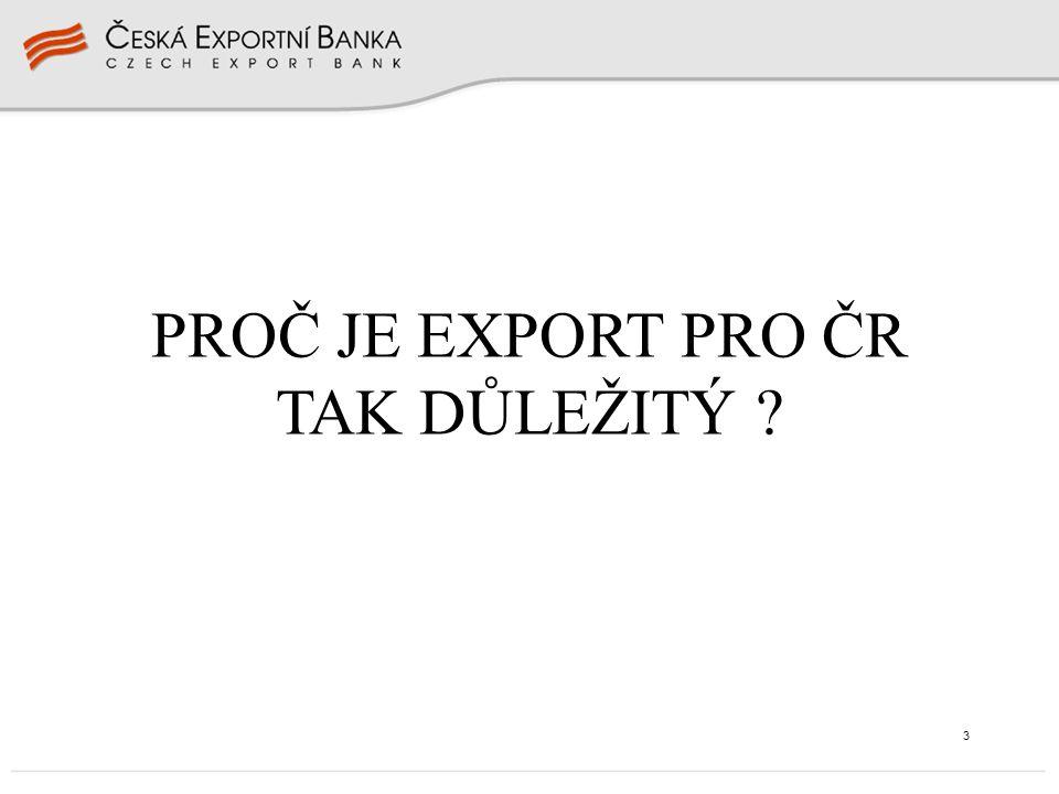 3 PROČ JE EXPORT PRO ČR TAK DŮLEŽITÝ ?