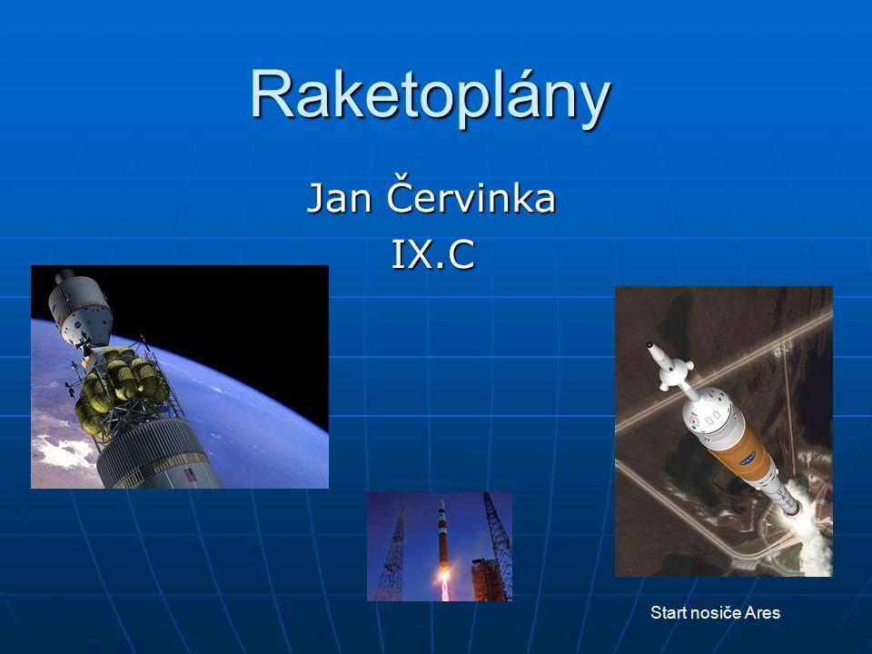 Raketoplány Jan Červinka IX.C Start nosiče Ares
