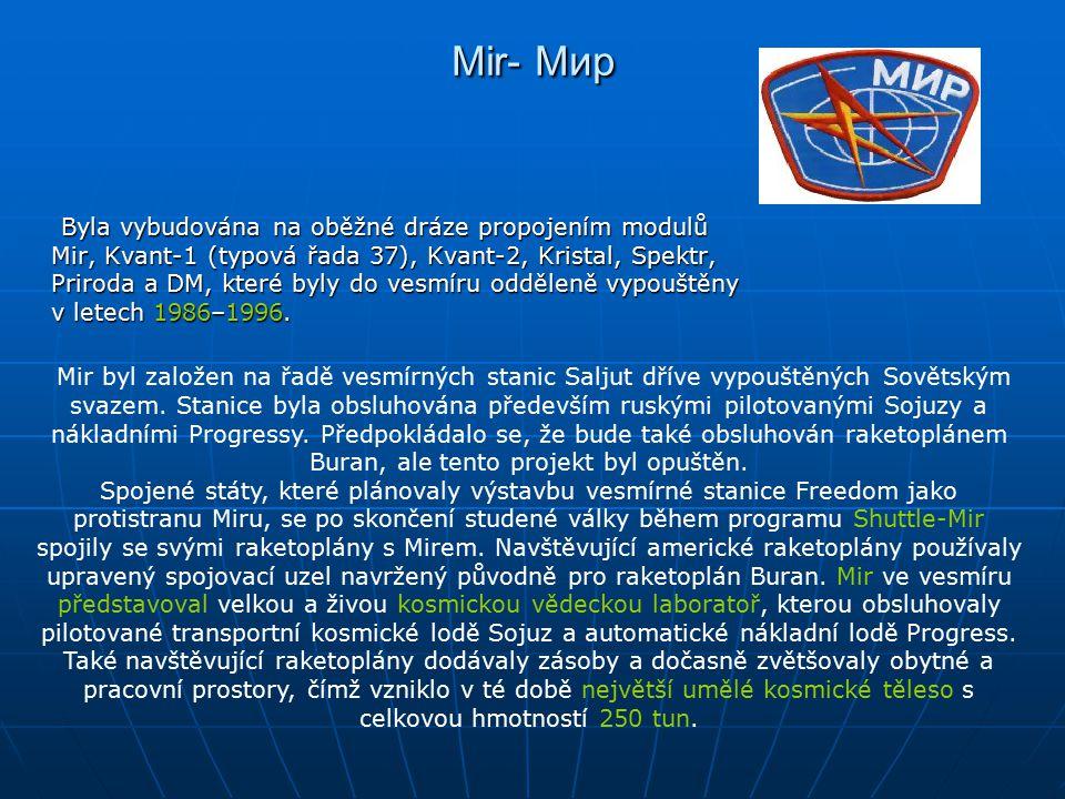 Stotunový Mir byl velký jako šest autobusů.