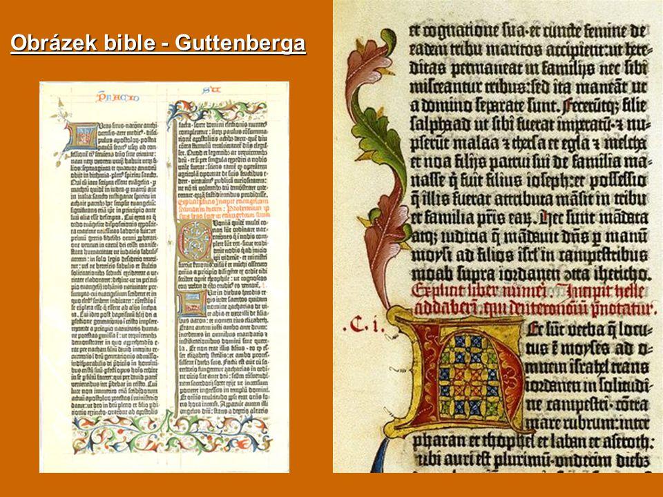 Obrázek bible - Guttenberga