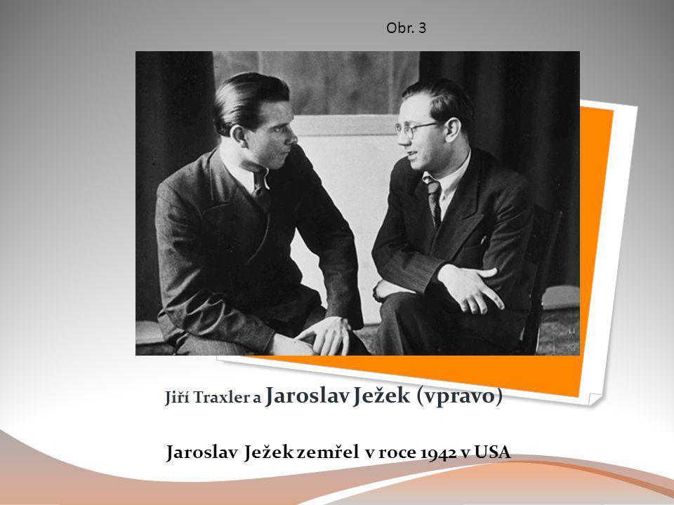 Jiří Traxler a Jaroslav Ježek (vpravo) Jaroslav Ježek zemřel v roce 1942 v USA Obr. 3