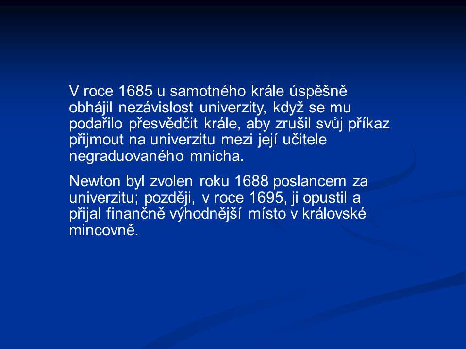 V roce 1685 u samotného krále úspěšně obhájil nezávislost univerzity, když se mu podařilo přesvědčit krále, aby zrušil svůj příkaz přijmout na univerz