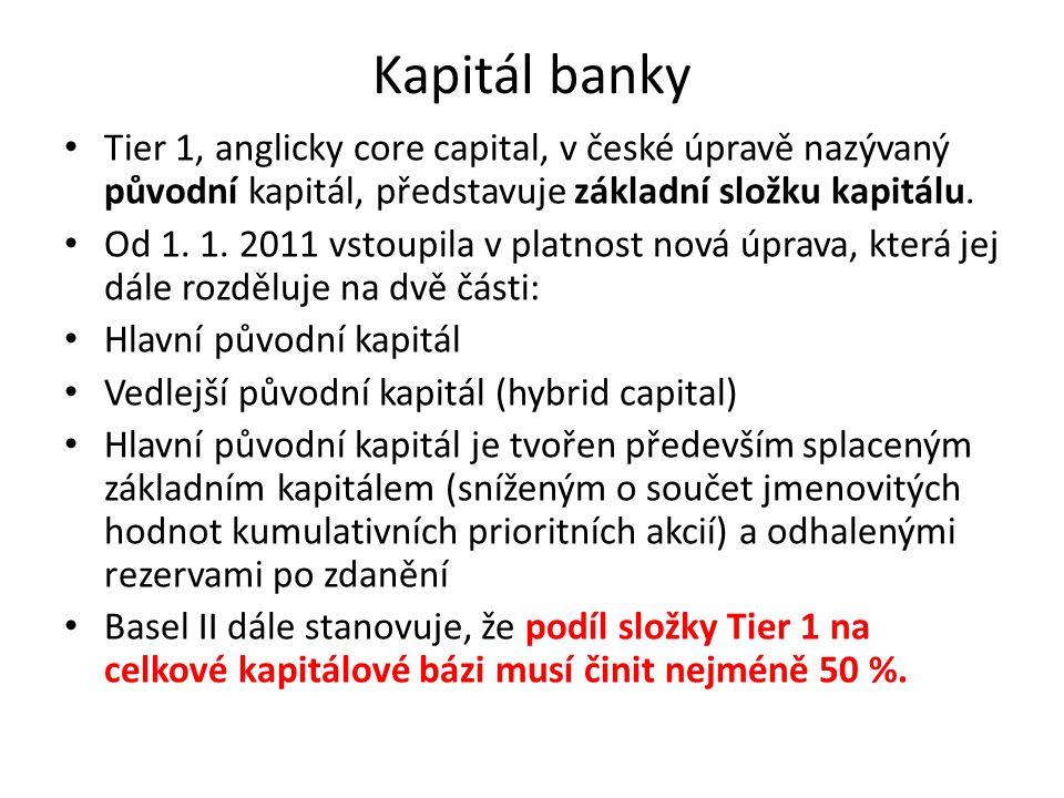 Kapitál banky Tier 1, anglicky core capital, v české úpravě nazývaný původní kapitál, představuje základní složku kapitálu. Od 1. 1. 2011 vstoupila v