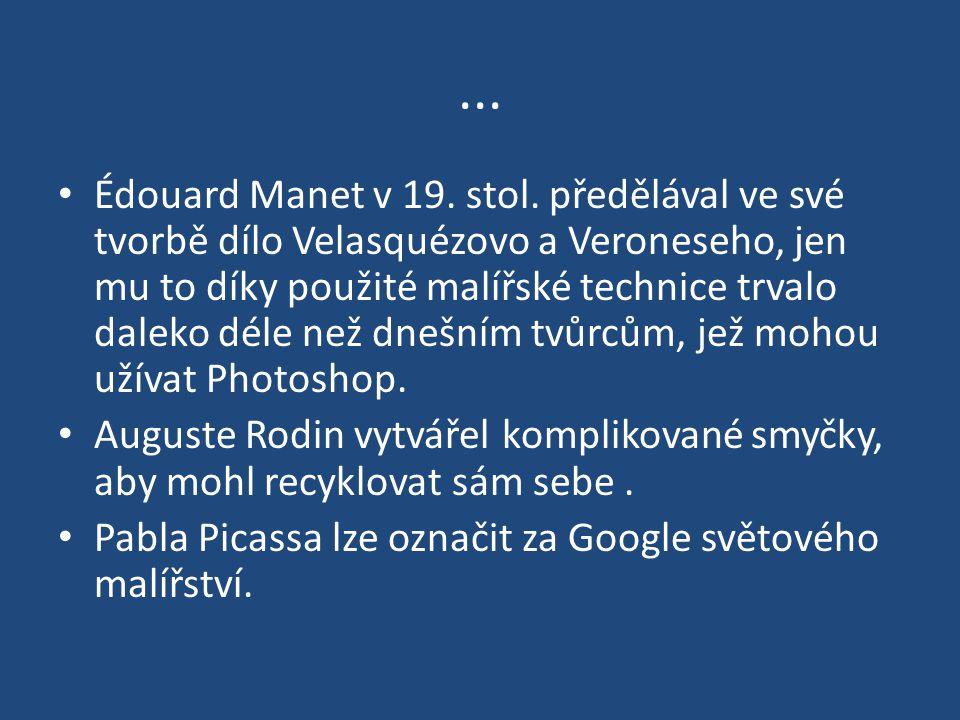 ...Édouard Manet v 19. stol.