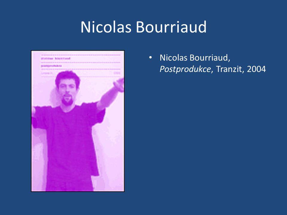 Nicolas Bourriaud Nicolas Bourriaud, Postprodukce, Tranzit, 2004