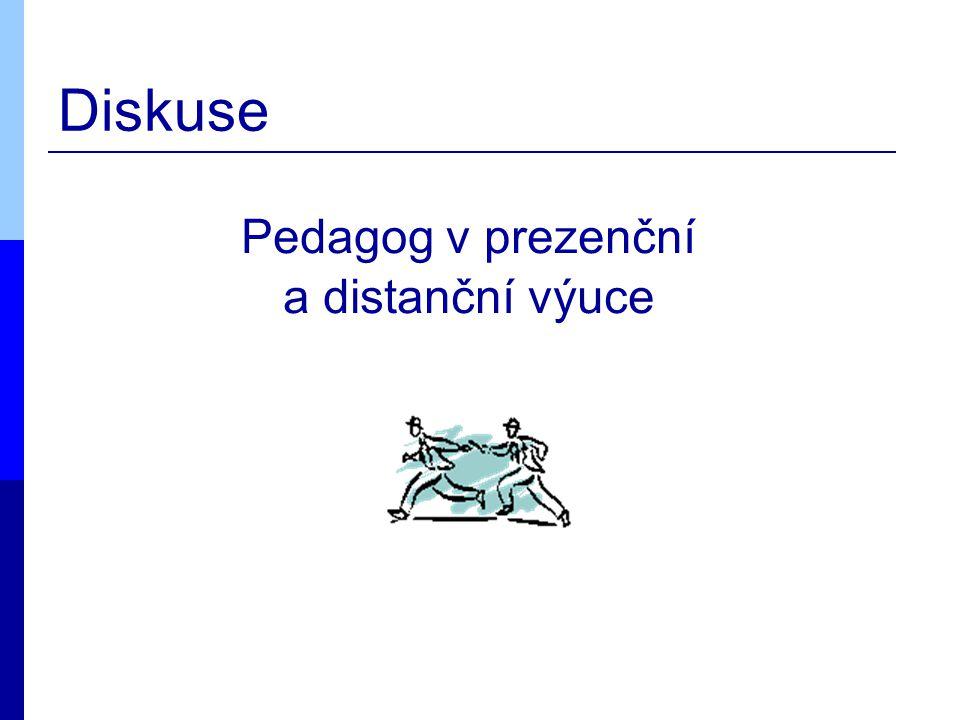 Diskuse Pedagog v prezenční a distanční výuce