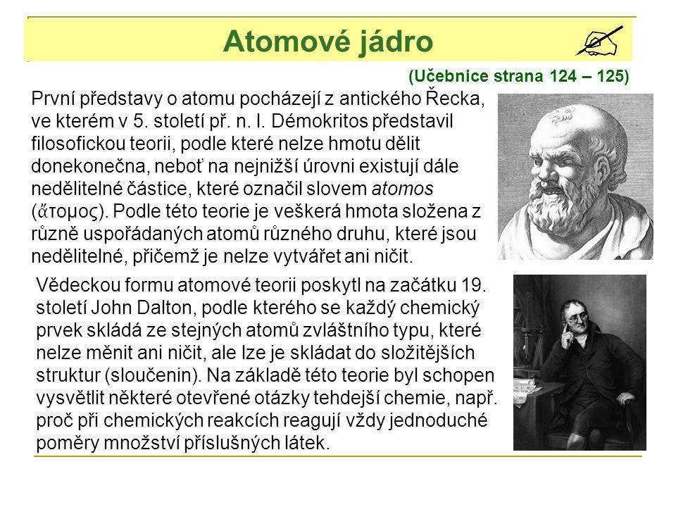 Jakmile se ukázalo, že atomy nejsou nejmenšími částicemi látek, dostali fyzikové nový impulz pro svou experimentální i teoretickou práci.