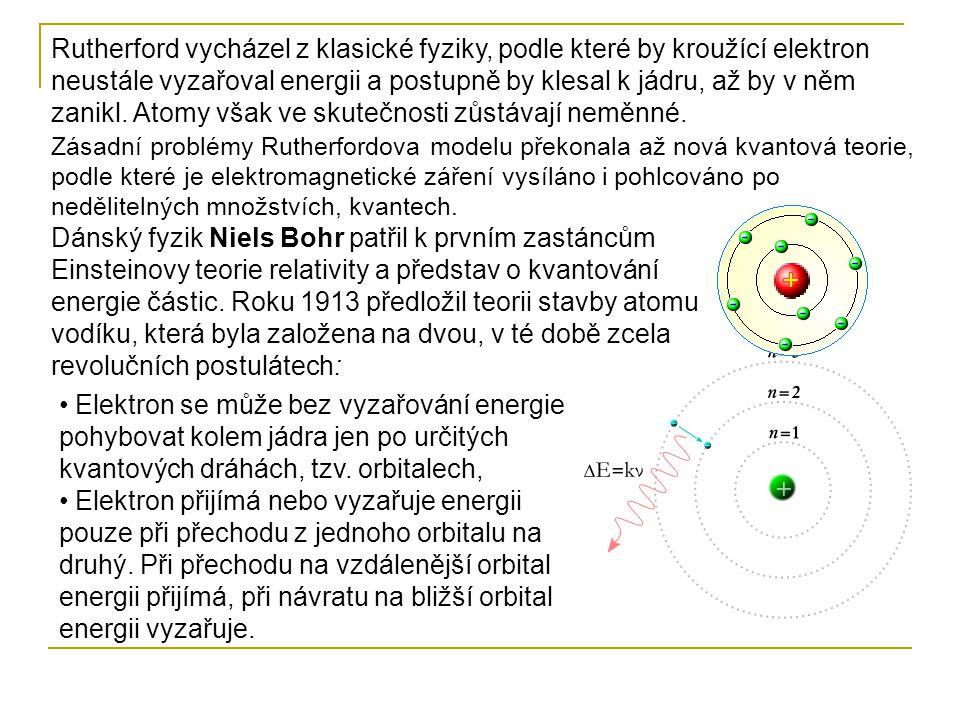 Podle planetárního Sommerfeldova modelu jsou u složitějších atomů dráhy elektronů nejen kruhové, ale i eliptické.