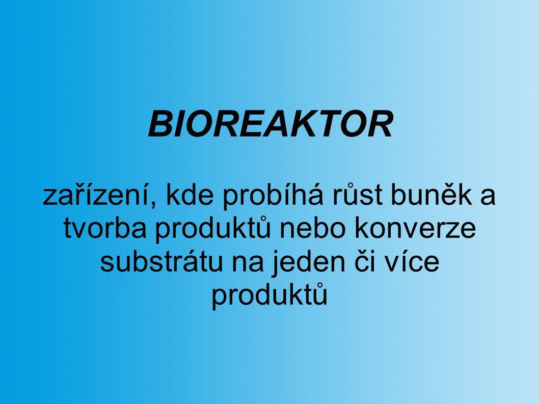 BIOREAKTOR zařízení, kde probíhá růst buněk a tvorba produktů nebo konverze substrátu na jeden či více produktů