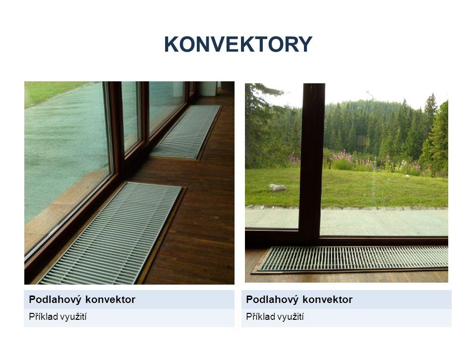 KONVEKTORY Podlahový konvektor Příklad využití
