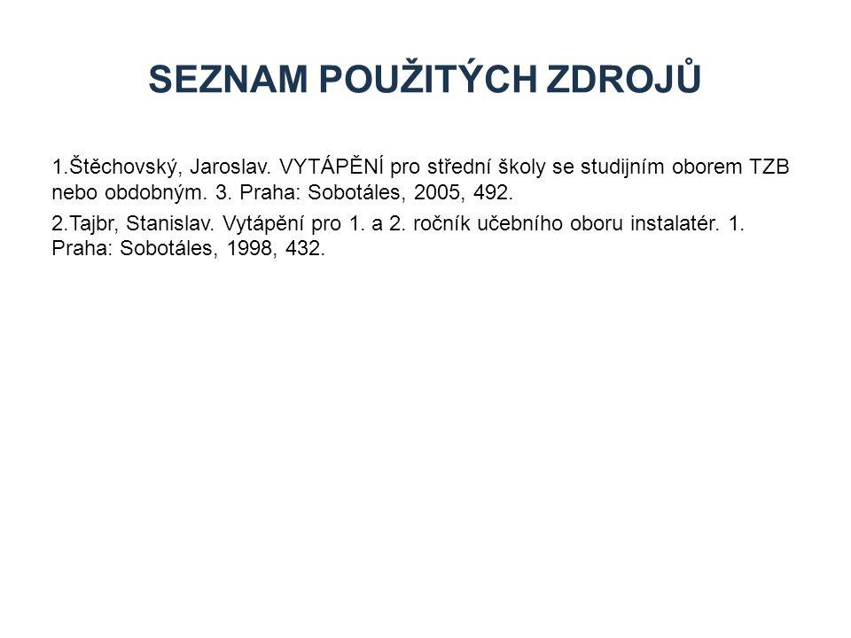 1.Štěchovský, Jaroslav.VYTÁPĚNÍ pro střední školy se studijním oborem TZB nebo obdobným.