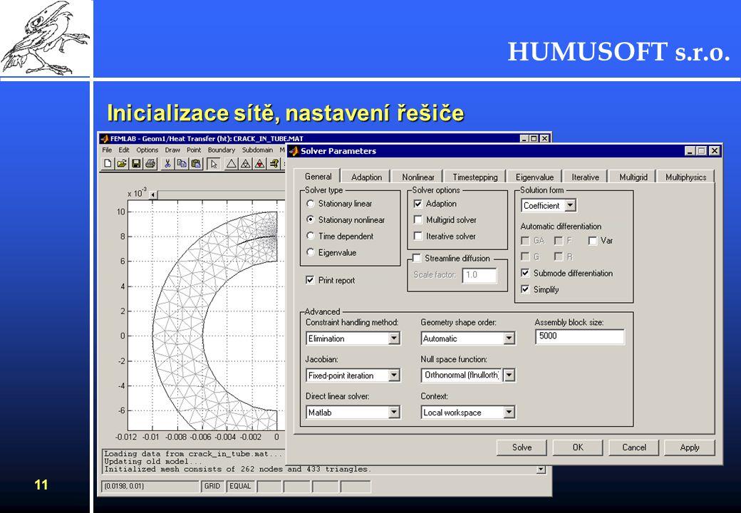 HUMUSOFT s.r.o. 10 Definice módů v subdoménách - PDE pro Heat Transfer