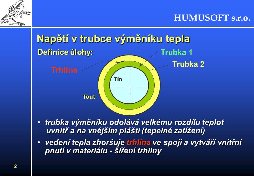HUMUSOFT s.r.o. FEMLAB 2.2 - simulace v technické praxi Karel Bittner HUMUSFT s.r.o.