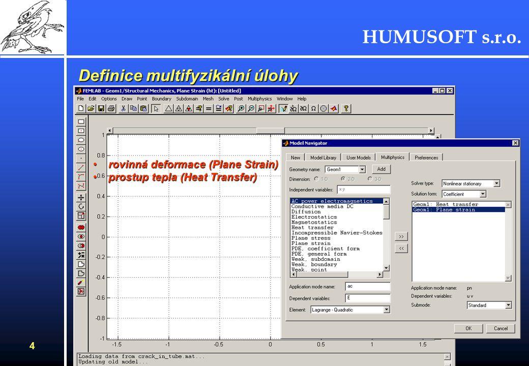 HUMUSOFT s.r.o. 3 Předpoklady pro výpočet : Oddělené povrchy trhlin - 1.