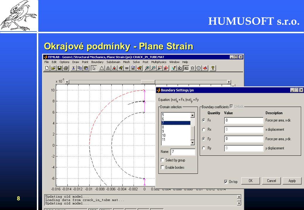 HUMUSOFT s.r.o. 8 Okrajové podmínky - Plane Strain