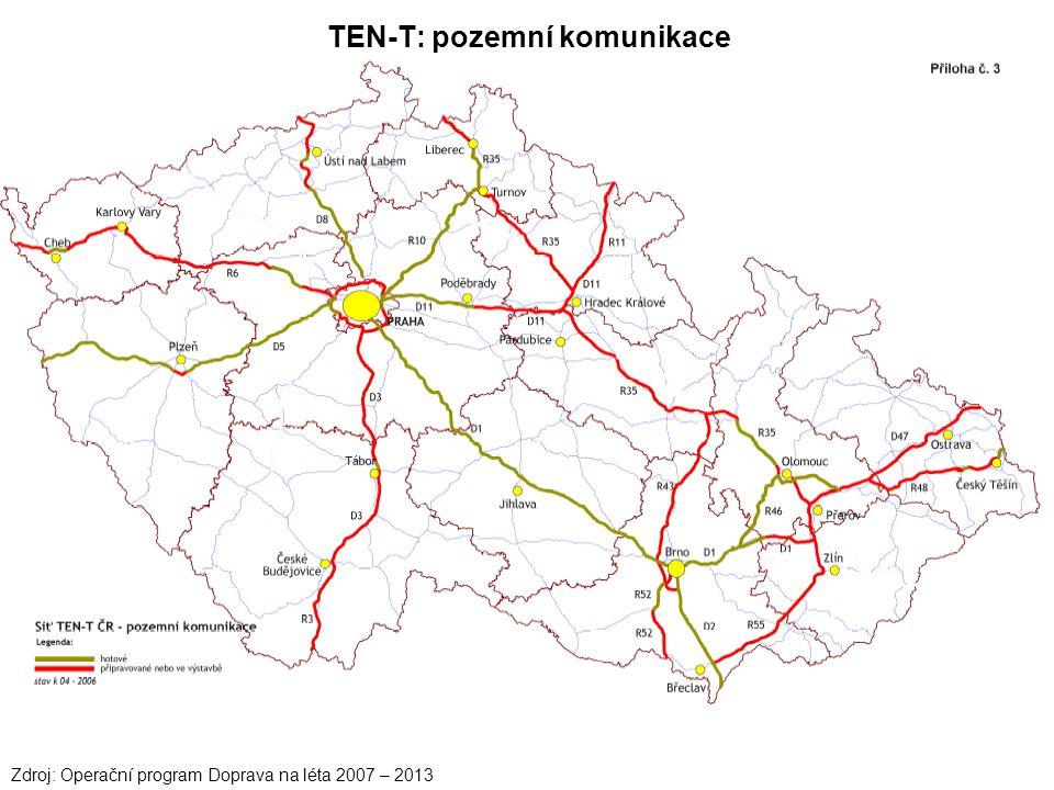 Zdroj: Operační program Doprava na léta 2007 – 2013 TEN-T: pozemní komunikace