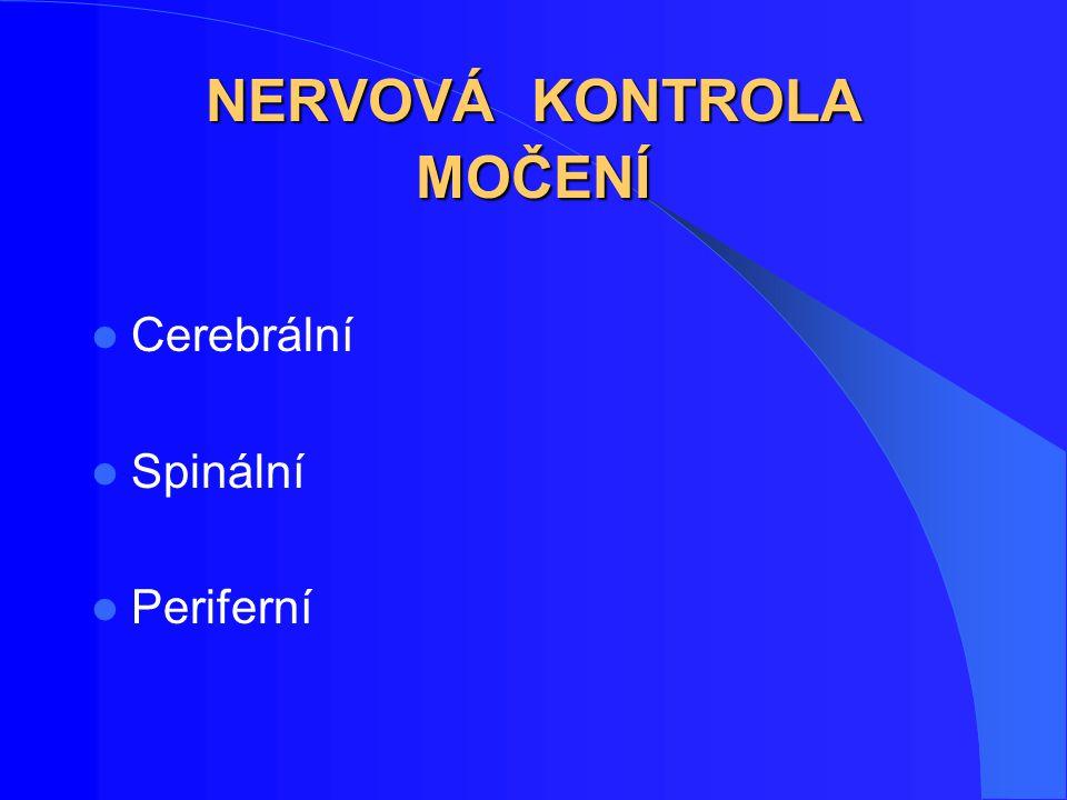 Terapie hyperaktivního měchýře Nykturie Zvýšená frekvence a zkrácený čas mezi mikcemi Urgence 1 Urgentní inkontinence Snížený mikční objem 1 2 2 (Chapple C R.,2004)