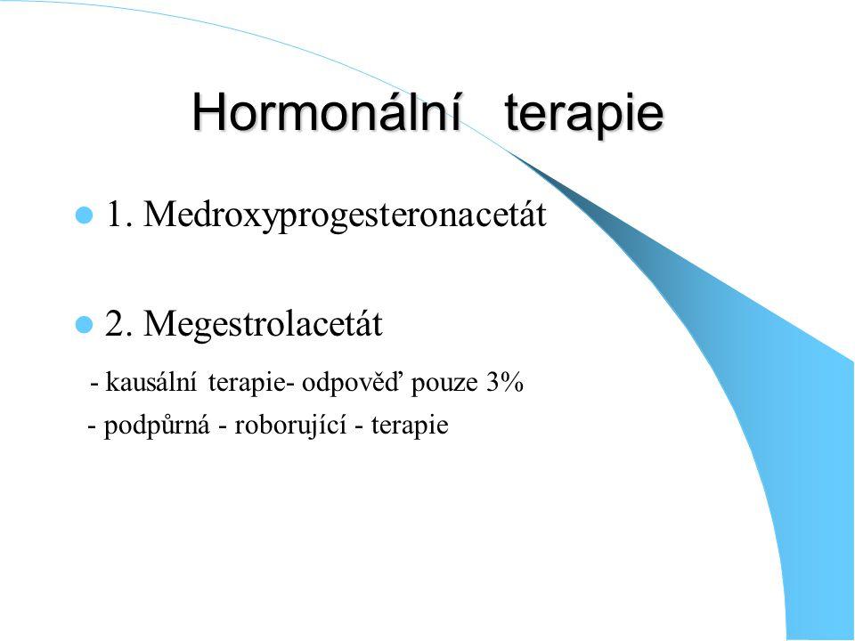 Hormonální terapie 1.Medroxyprogesteronacetát 2.