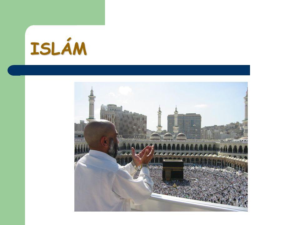 Šíření islámu II V současnosti přibližně 1 400 000 000 muslimů, většinově: Arabský poloostrov, Blízký východ, severní Afrika, střední Asie, indická kulturní oblast, Indonésie; historické menšiny: Balkán, Rusko, Polsko, další africké země, Filipíny