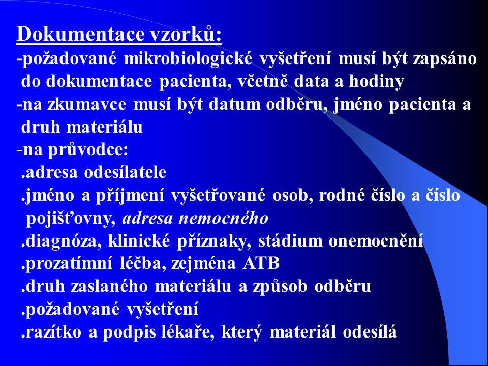 Literatura: 1.Hana Podstatová : Mikrobiologie, epidemiologie, hygiena (Učebnice pro zdrav.