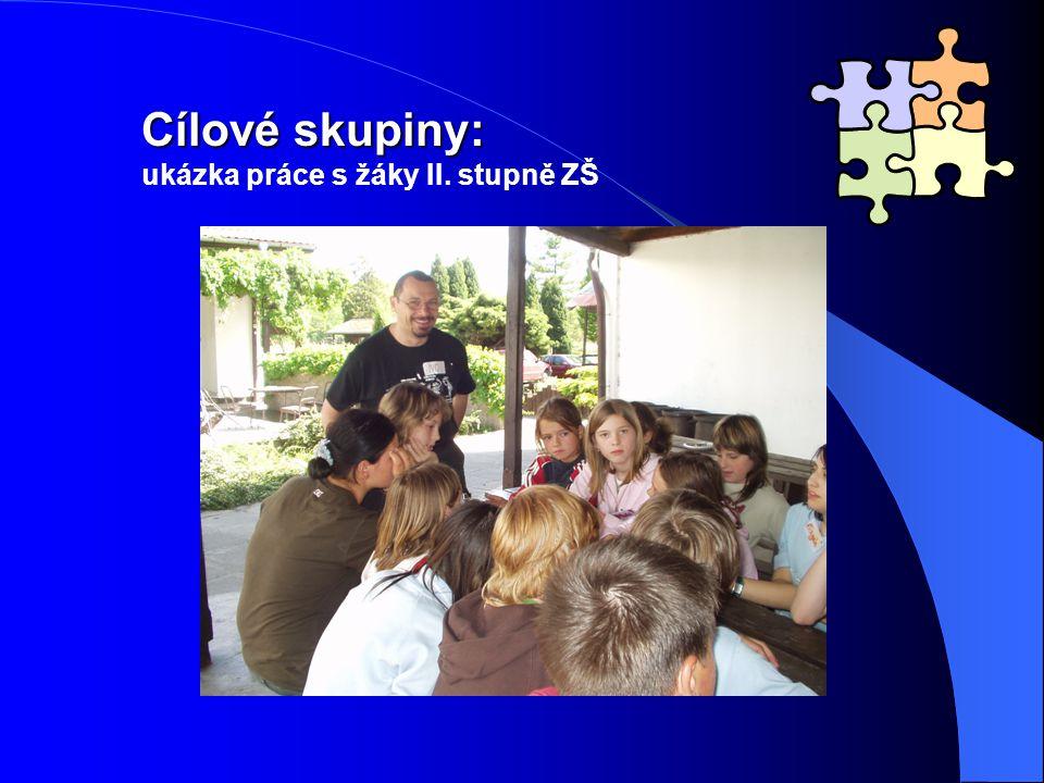 Cílové skupiny: ukázka práce s žáky II. stupně ZŠ