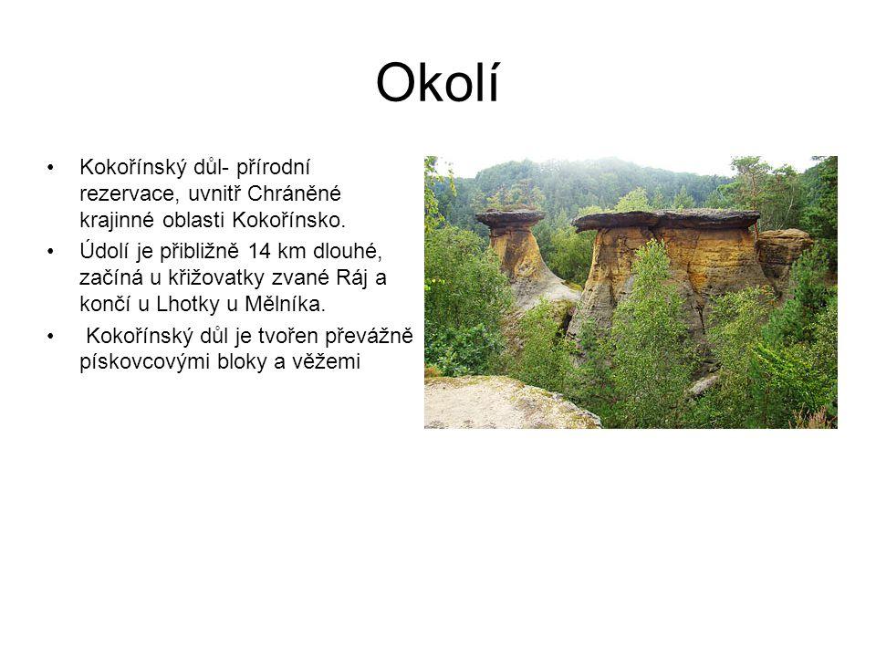 Okolí Kokořínský důl- přírodní rezervace, uvnitř Chráněné krajinné oblasti Kokořínsko.