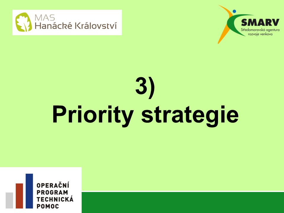 3) Priority strategie