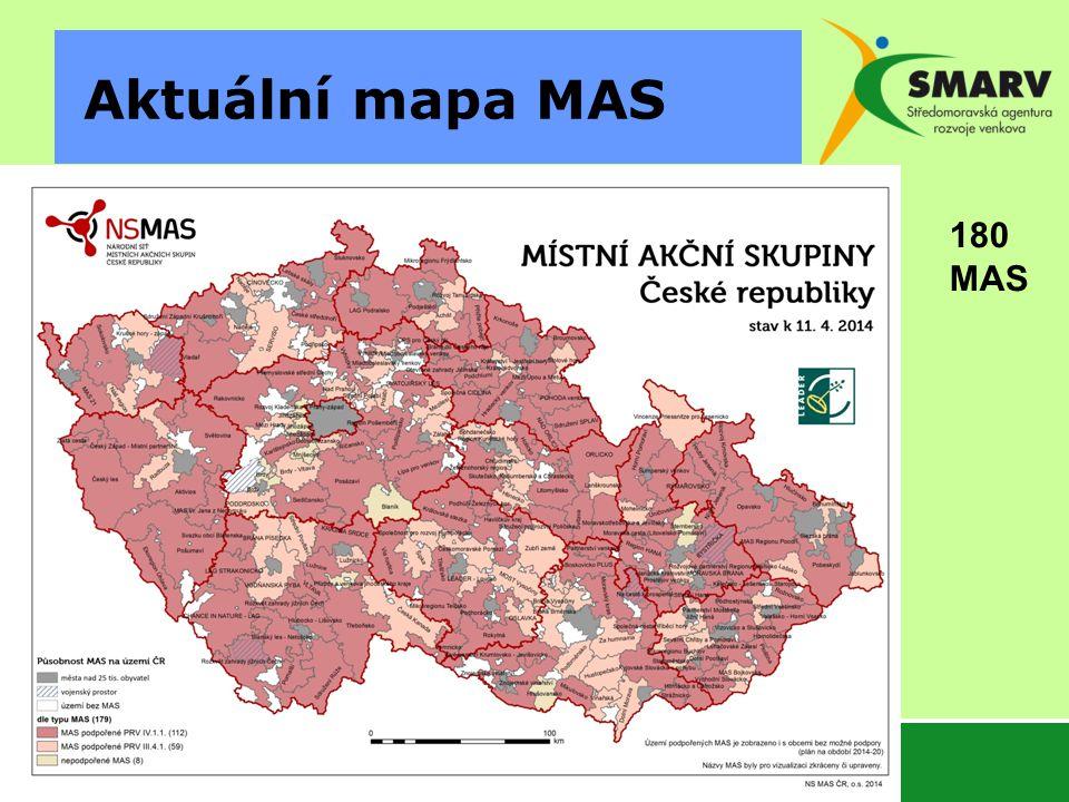 Aktuální mapa MAS 180 MAS