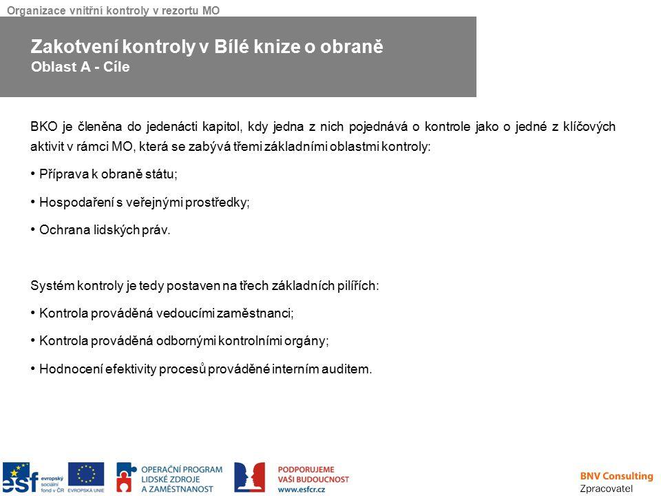 Organizace vnitřní kontroly v rezortu MO V rámci Analýzy bylo provedeno srovnání napříč ostatními ministerstvy ČR a ministerstvem obrany SR, kdy byl kladen důraz na organizační uspořádání kontrolního systému daných ministerstev.