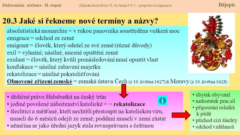 20.4 Co si řekneme nového.Elektronická učebnice - II.