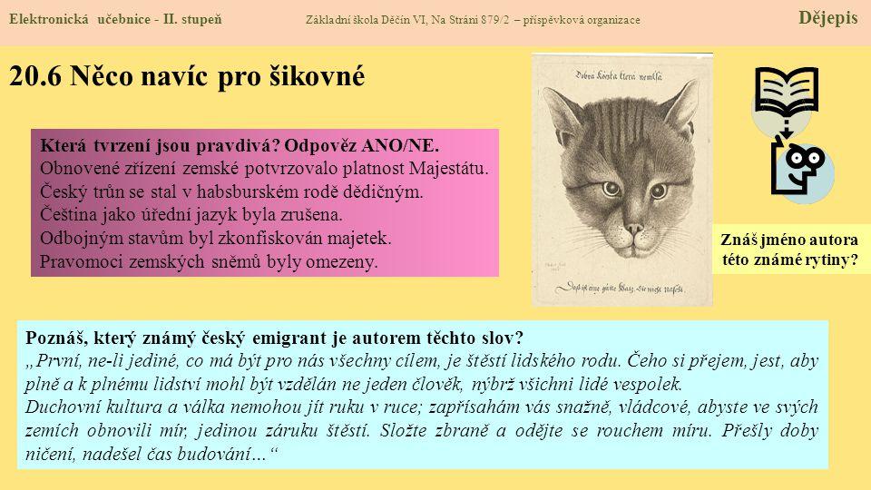 20.7 CLIL (Comenius) Elektronická učebnice - II.